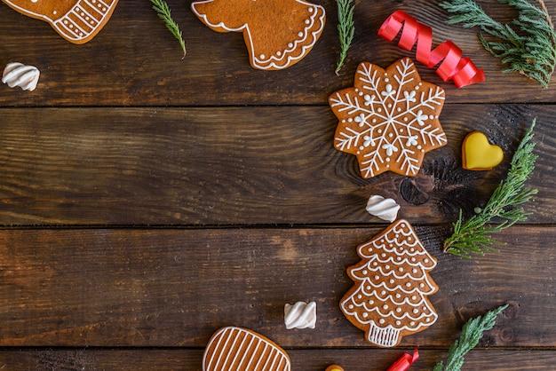 Galletas caseras navideñas de jengibre