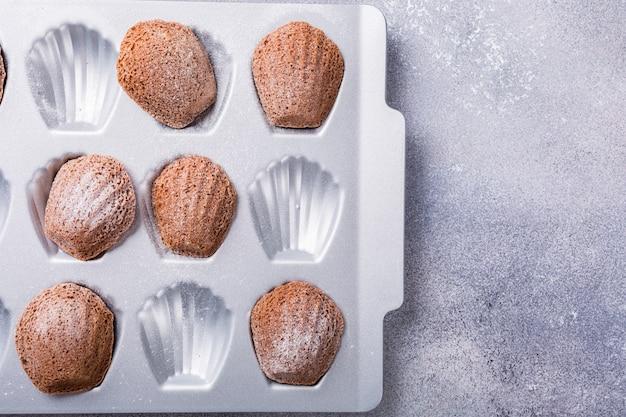 Galletas de chocolate caseras de madeleine