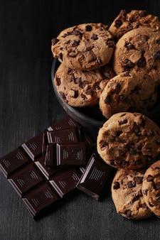 Galletas de chocolate con chispas de chocolate