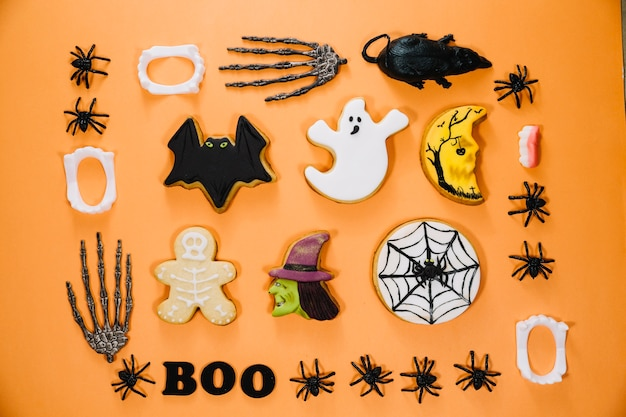 Galletas lindas de halloween