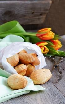 Galletas de madeleine