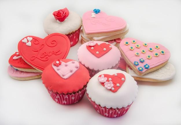 Galletas de mantequilla y cupcake