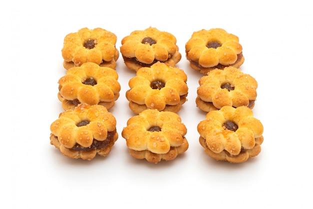 Galletas con mermelada de piña
