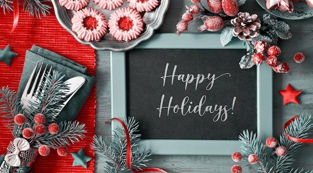 Galletas navideñas de café y mermelada, texto