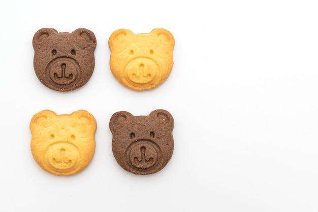 Galletas de oso con sabor a chocolate y mantequilla