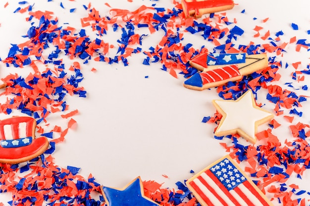 Galletas patrióticas para el 4 de julio.