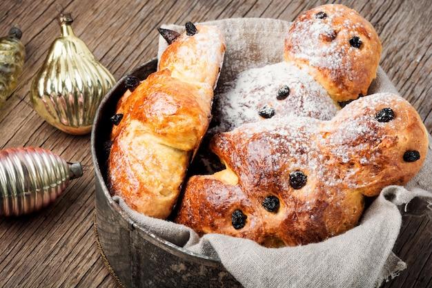 Galletas tradicionales de pan de jengibre de navidad