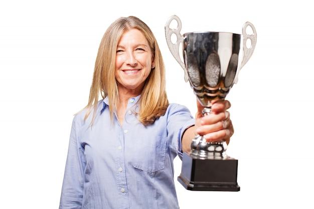 Ganador del éxito ocasional con estilo femenino