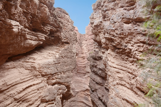 La garganta del diablo. formación rocosa en salta, argentina.