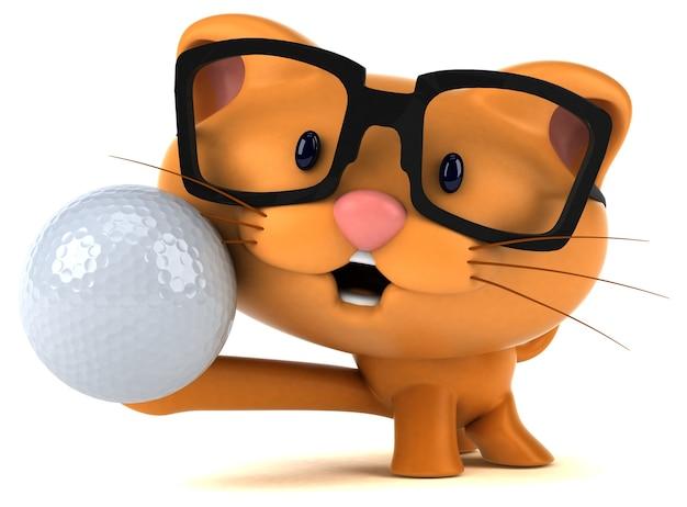 Gato divertido - ilustración 3d