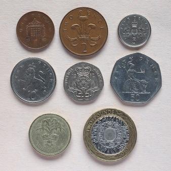 Gbp monedas de libra