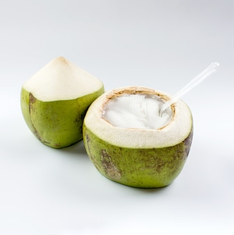 Gelatina de coco joven.