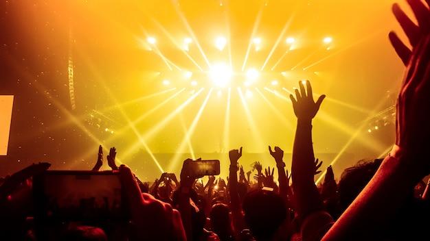 Gente bailando en el concierto