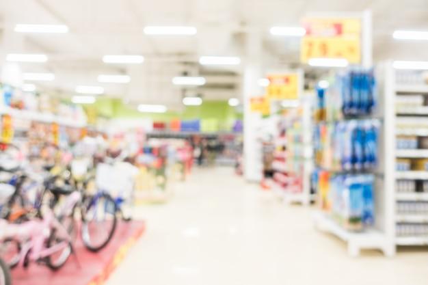 La gente compra pasillo desdibujan las compras