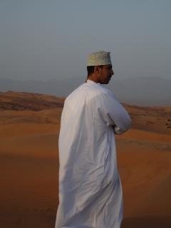 La gente del desierto de omán, árabe