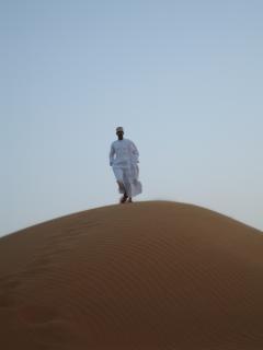 La gente del desierto de omán