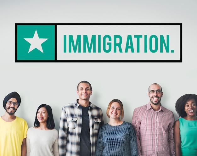 Gente de inmigración