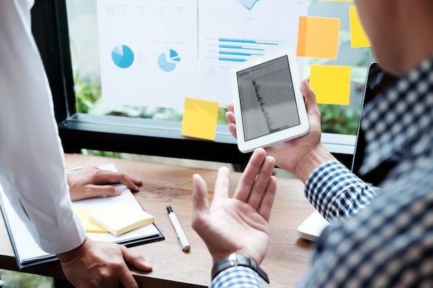 Gente de negocios conociendo ideas concepto ideas. planificación empresarial