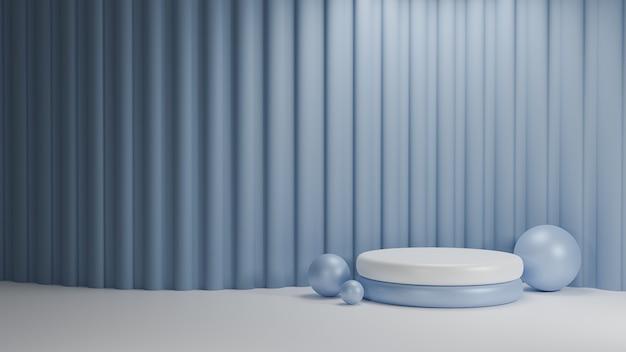 Geometría abstracta. escena de renderizado 3d para mostrar el producto.