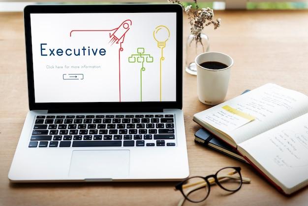 Gerente ejecutivo de éxito profesional de negocios