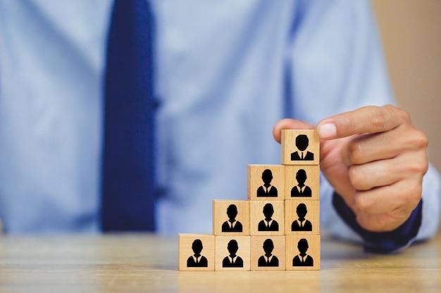 Gestión de recursos humanos, búsqueda de personas de negocios. talento con éxito.