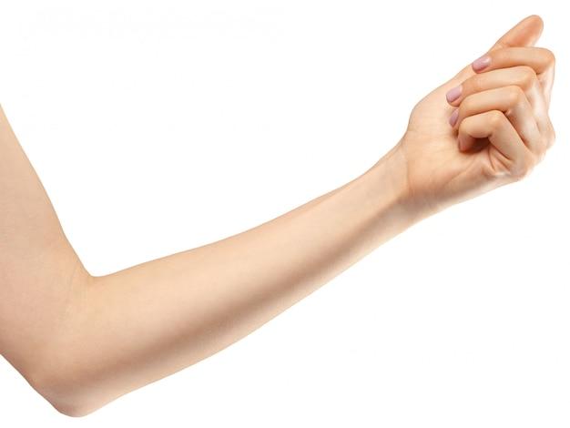 Gesto de la mano femenina
