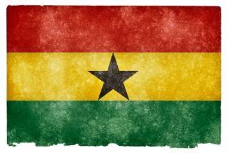 Ghana bandera del grunge