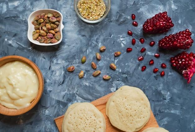 Ghrayaf: tortitas argelinas, cocina magrebí.