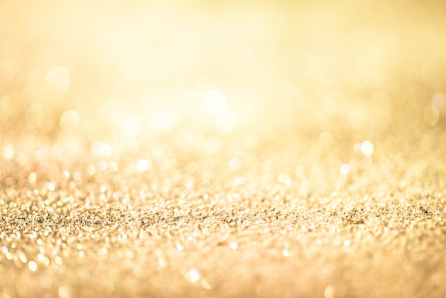Glitter gold bokeh colorfull fondo abstracto borroso para cumpleaños, aniversario, boda