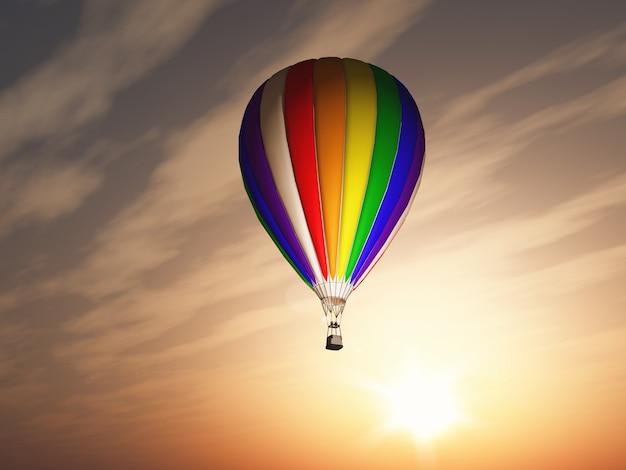 Globo aerostático colorido
