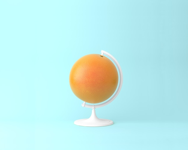 Globo esfera esfera naranja conceptos