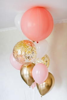 Globos de colores para fiesta de cumpleaños