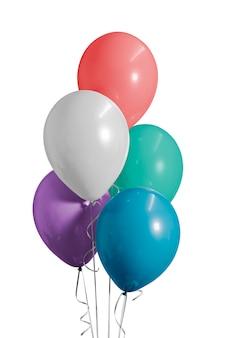 Globos de colores para una fiesta de cumpleaños.