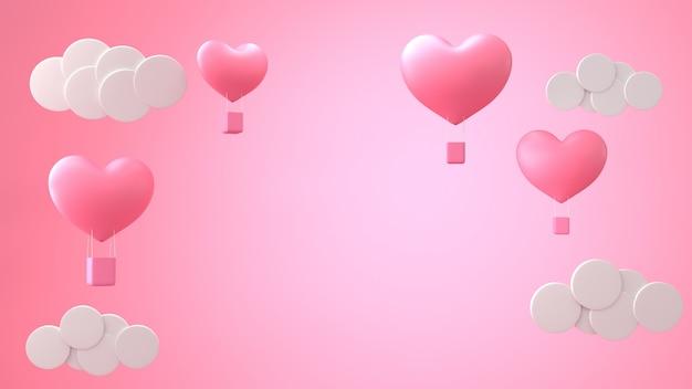 Globos de corazón día de san valentín