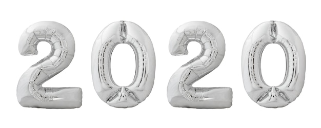 Globos navideños 2020 hechos de globo inflable de cromo plateado
