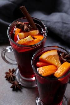Glühwein alemán, también conocido como vino caliente o vino especiado