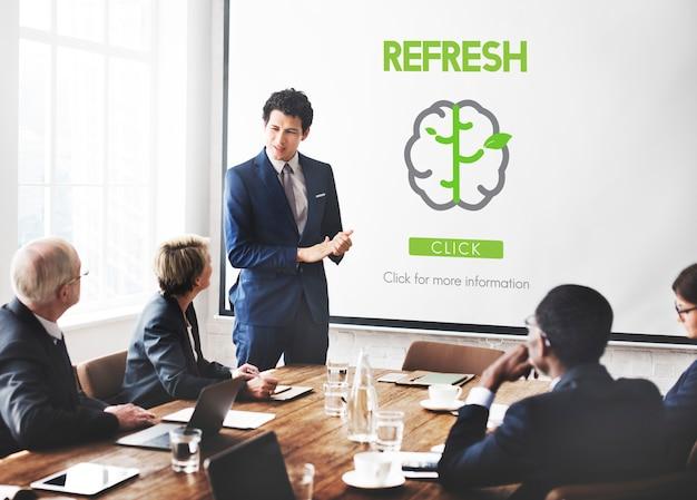 Go green refresh piense en el concepto verde