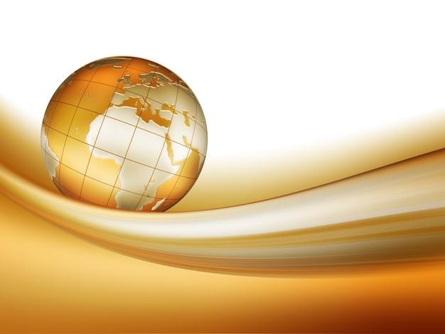 Golden world corre a lo largo de la cinta: fondo elegante para su diseño artístico