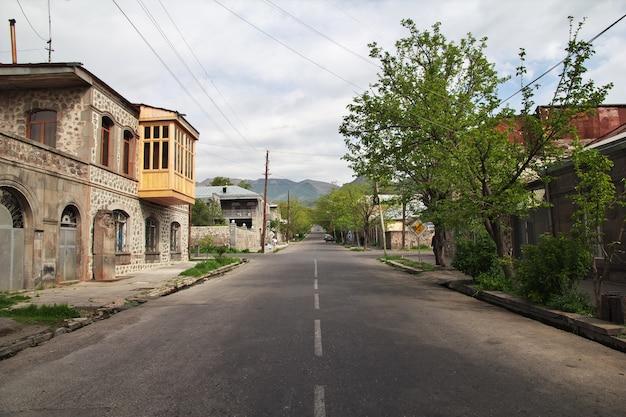 Goris es una pequeña ciudad en las montañas del cáucaso, armenia