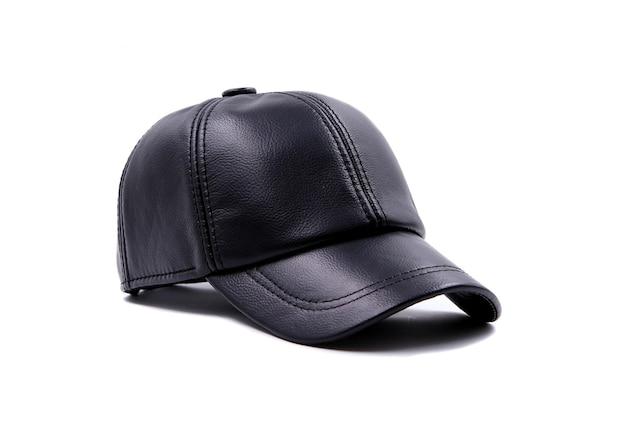 Gorra de cuero aislada