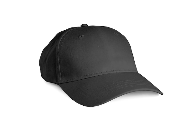 Gorra negra aislada