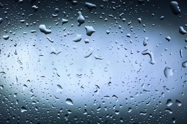 Gota de agua sobre vidrio para fondo y diseño