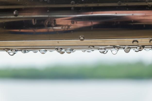 Gota de agua, temporada de lluvias.