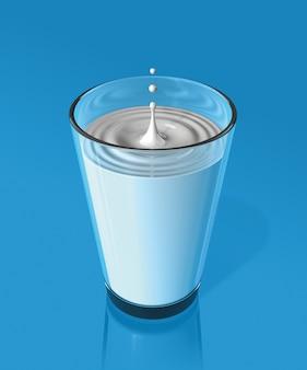 Gota de salpicaduras de leche