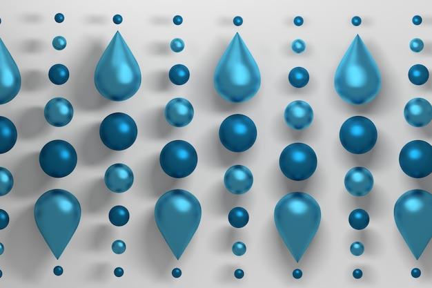 Gotas de agua sobre blanco