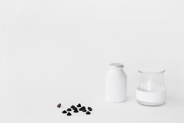 Gotas de chocolate cerca