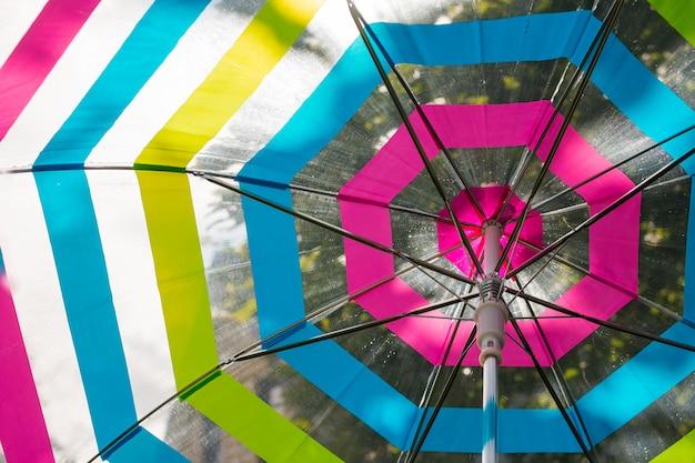 Gotas en paraguas abierto