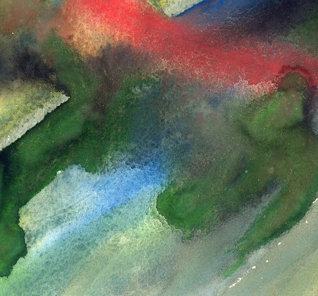 Gouache manchas de colores