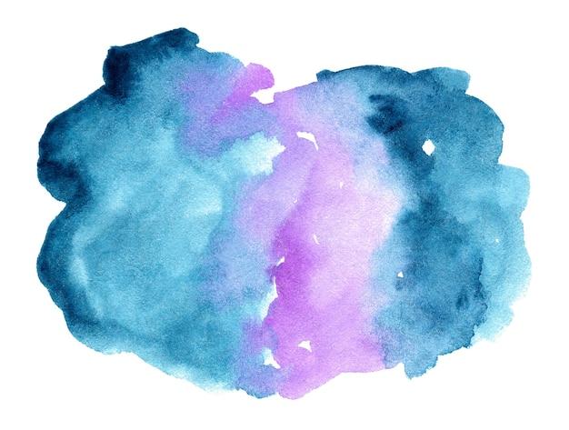 Gradiente abstracto acuarela azul y violeta sobre fondo blanco.