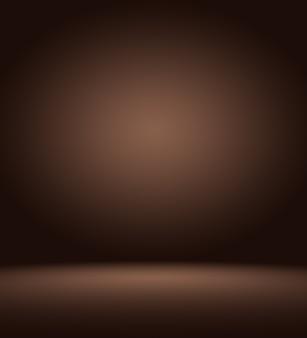 Gradiente de color marrón oscuro y marrón de lujo abstracto con viñeta de borde marrón, telón de fondo de estudio - así utilizarlo como fondo de fondo, tablero, fondo de estudio